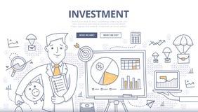 Concetto di scarabocchio di investimento illustrazione vettoriale