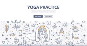 Concetto di scarabocchio di yoga royalty illustrazione gratis