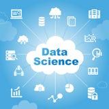 Concetto di scienza di dati Immagini Stock Libere da Diritti