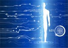Concetto di scienza e di tecnologia illustrazione di stock