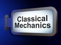 Concetto di scienza: Meccanici classici sul fondo del tabellone per le affissioni illustrazione di stock