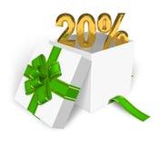 concetto di sconto di 20% Immagine Stock