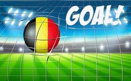 Concetto di scopo del pallone da calcio del Belgio Immagini Stock