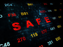 Concetto di segretezza: Cassaforte sul fondo di Digital Fotografie Stock