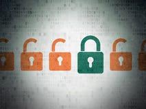 Concetto di segretezza: icona chiusa del lucchetto su Digital Fotografia Stock