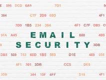 Concetto di segretezza: Sicurezza del email sul fondo della parete Fotografia Stock Libera da Diritti