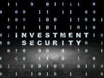 Concetto di segretezza: Sicurezza di investimento in lerciume Immagine Stock Libera da Diritti