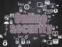 Concetto di segretezza: Sicurezza online sul consiglio scolastico Fotografia Stock Libera da Diritti