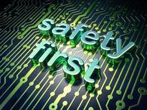 Concetto di segretezza: sicurezza prima del circuito Fotografia Stock