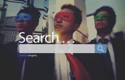 Concetto di Seo Online Internet Browsing Web di ricerca fotografie stock libere da diritti