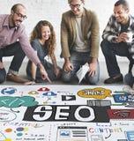 Concetto di SEO Search Engine Optimization Internet Digital Immagine Stock Libera da Diritti