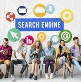 Concetto di SEO Search Engine Optimization Searching Immagine Stock Libera da Diritti
