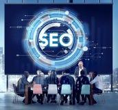 Concetto di SEO Web Development Technology Online fotografia stock libera da diritti