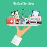 Concetto di servizi medici Fotografie Stock Libere da Diritti