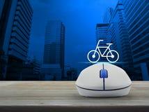 Concetto di servizio della bicicletta di Internet di affari Fotografie Stock