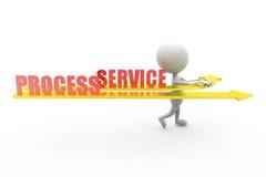 concetto di servizio di processo dell'uomo 3d Fotografia Stock Libera da Diritti