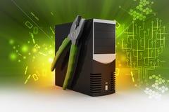 Concetto di servizio di riparazione del computer Immagine Stock