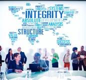 Concetto di servizio di valore di analisi di servizio della struttura di integrità fotografia stock