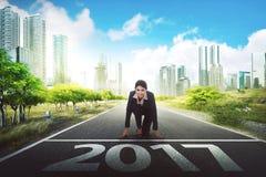 Concetto di sfida di 2017 nuovi anni Immagini Stock Libere da Diritti