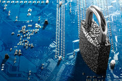 concetto di sicurezza cyber fotografia stock