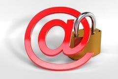 Concetto di sicurezza del email Fotografie Stock