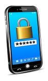 Concetto di sicurezza del telefono Fotografie Stock