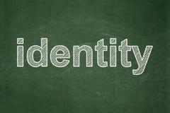 Concetto di sicurezza: Identità sul fondo della lavagna Fotografie Stock Libere da Diritti
