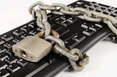 Concetto di sicurezza informatica Fotografia Stock