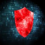 Concetto di sicurezza: schermo su fondo digitale Fotografia Stock Libera da Diritti
