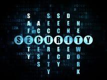 Concetto di sicurezza: sicurezza di parola nella soluzione Immagine Stock