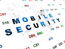 Concetto di sicurezza: Sicurezza mobile su Digital Immagine Stock Libera da Diritti