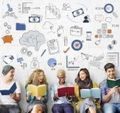 Concetto di simbolo di pensiero creativo di strategia di 'brainstorming' Fotografia Stock Libera da Diritti