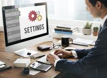 Concetto di sistema di messa a punto degli strumenti di regolazioni Fotografia Stock