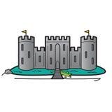 Concetto di sistema di sicurezza domestico del castello, vettore Immagini Stock