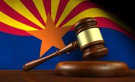 Concetto di sistema giudiziario di legge dell'Arizona Immagine Stock Libera da Diritti