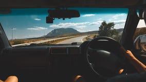 Concetto di smania dei viaggi di viaggio di automobile di libertà immagine stock libera da diritti