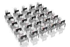 concetto di società 3D/spazio aperto Fotografia Stock Libera da Diritti