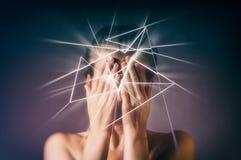 Concetto di sofferenza, del dolore, del timore, ecc fotografie stock libere da diritti