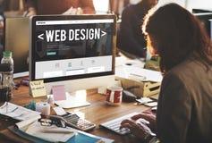 Concetto di software rispondente del sito Web di Internet di web design immagine stock