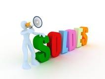 Concetto di Soldes Immagini Stock