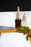 Concetto di sollievo di allergia, allergia stagionale del polline, farmaco e Fotografia Stock Libera da Diritti