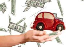 Concetto di spese dell'automobile archivi video