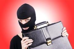 Concetto di spionaggio industriale con la persona Immagine Stock