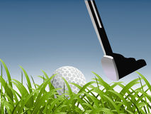 Concetto di sport di golf illustrazione di stock