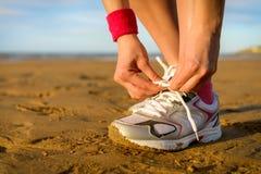 Concetto di sport e correre Immagini Stock