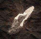 Concetto di sport di immersione subacquea illustrazione vettoriale