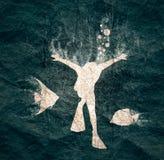Concetto di sport di immersione subacquea illustrazione di stock