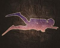 Concetto di sport di immersione subacquea royalty illustrazione gratis