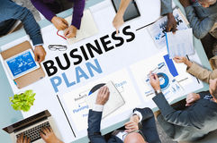Concetto di statistiche di informazioni di pianificazione di strategia del business plan Fotografia Stock Libera da Diritti