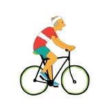 Concetto di stile di vita di progettazione delle vacanze estive sulla bicicletta Fotografia Stock